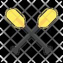 Oars Transportation Sailor Icon
