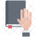 Hand Book Law Icon