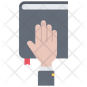 Bible Oath Hand Icon