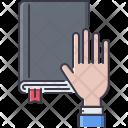 Oath Book Hand Book Icon