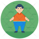 Overweight Obesity Fat Man Icon