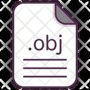 Obj File Document Icon