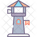 Observation Tower Creative Grid Icon