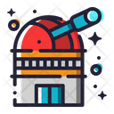 Observatory Astronomy Space Icon
