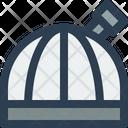 Observatory Planetarium Telescope Icon
