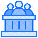 Observer Court Crowd Icon