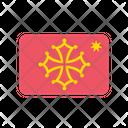 Occitania Flag Country Icon