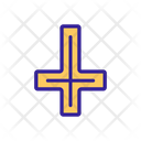 Occult Contour Cross Icon