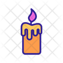 Occult Candle Contour Icon