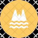 Ocean Mountain Sea Icon