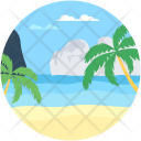 Ocean Beach Landform Icon