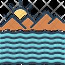 Ocean Briny Sea Icon