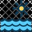 Ocean Sea Sun Icon