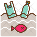 Ocean Garbage Pollution Icon