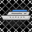 Ocean Liner Voyage Travel Icon