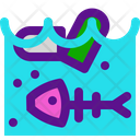 Sea Pollution Icon