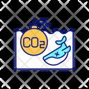 Ocean Carbon Effect Icon
