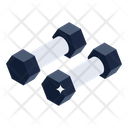 Weightlifting Octagon Dumbbells Gym Equipment Icon