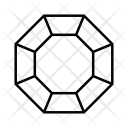 Octagonal Diamond Brilliant Icon