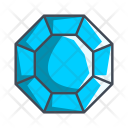 Octagonal Diamond Jewel Icon