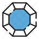 Octagonal Diamond Jewelry Icon