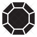 Octagonal Diamond Jewelry Icon