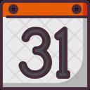 Calendar Halloween October 31 Icon