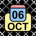October Calendar Date Icon
