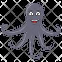 Octopus Sea Animal Mollusc Icon