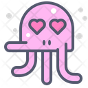 Octopus Love Heart Icon
