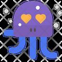 Octopus Love Heart Icon
