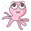 Cuttlefish Aquatic Animal Specie Icon