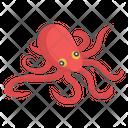 Fish Aquatic Creature Seafood Icon