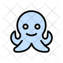 Pouple Octopus Seafood Icon