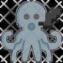 Octopus Squid Cephalopods Icon