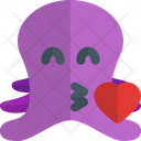 Octopus Blowing A Kiss Icon