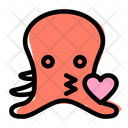 Octopus Kiss Icon