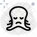 Octopus Sad Animal Wildlife Icon