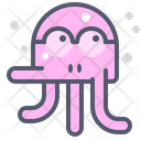 Octopus Wear Glasses Glasses Octopus Icon