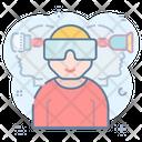 Virtual Glasses Virtual Goggles 3 D Glasses Icon