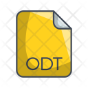 Odt Document File Icon