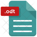 Odt File Document Icon