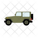 Offroad Military Vehicle Icon