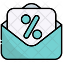 Letter Discount Mail Icon