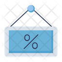 Signboard Offer Percentage Icon