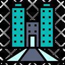 Company Building Work Icon