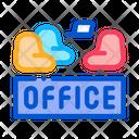 Office Armchair Badge Icon
