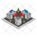 Office Room Isometric Icon