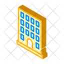 Coworking Building Isometric Icon