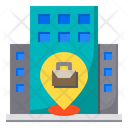 Pin Office Location Icon
